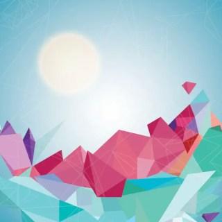 Geometric Landscape Free Vector