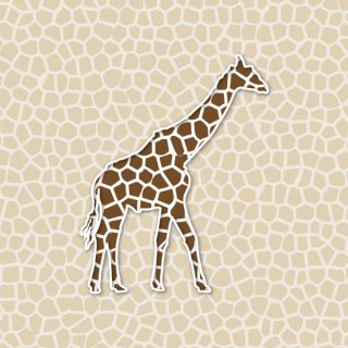 Giraffe Background Free Vector