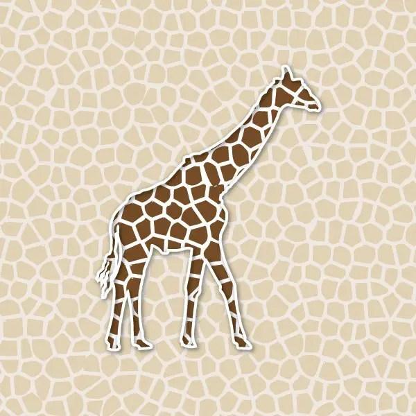 Giraffe Background Free Vector