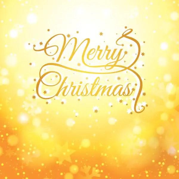 Golden Christmas Card Free Vector