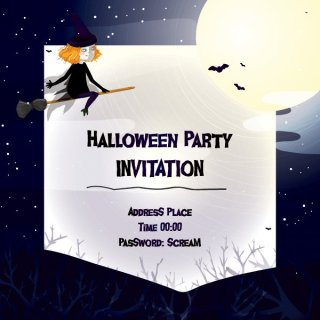 Halloween Invitation Free Vector