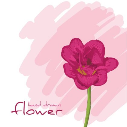 Hand Drawn Flower Free Vector