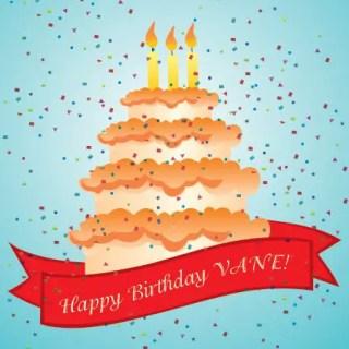 Happy Birthday Vane Free Vector