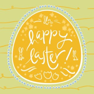 Happy Easter Card Free Vector