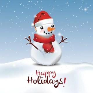 Happy Holidays Greeting Card Free Vector
