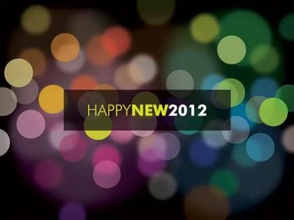 Happy New 2012 Free Vector