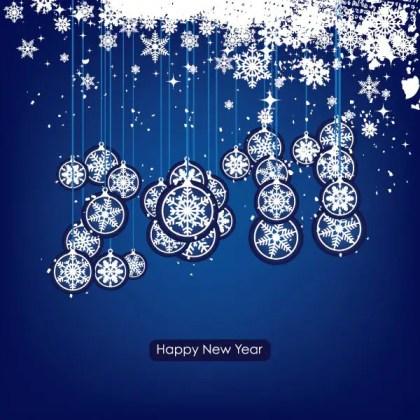 Happy New Year 2011 Free Vector