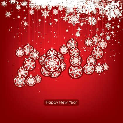 Happy New Year 2012 Free Vector