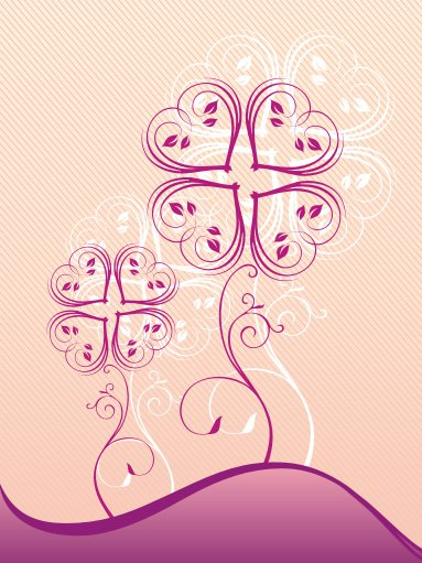 Heart flower Free Vector