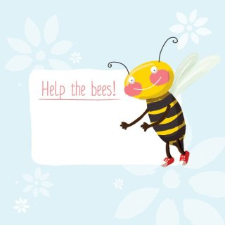 Help The Bees Free Vector