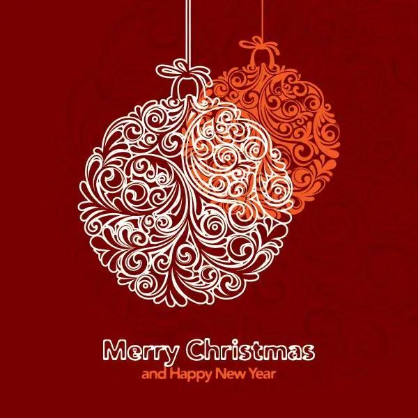 Holiday Ornaments Free Vector