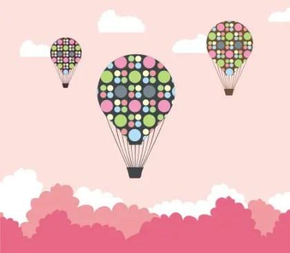 Hot air balloon quest Free Vector