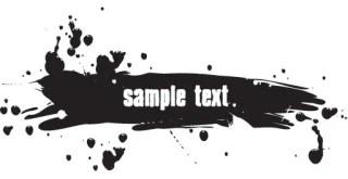 Ink Splash Banner Free Vector