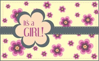 Its a girl greeting Free Vector