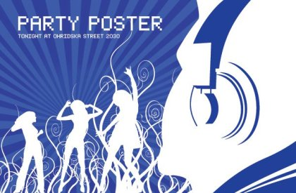 Join the party Free Vector