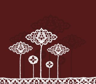 Lace flowers Free Vector