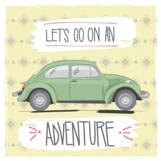 Lets Go On An Adventure Free Vector