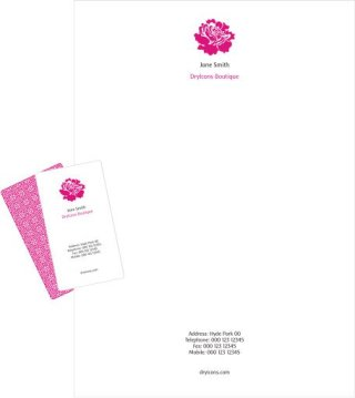Letterhead and business card template Free Vector