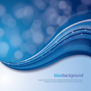 Magical Blue Background Free Vector
