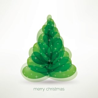 Merry Christmas Tree Free Vector