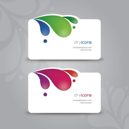Modern Business Cards Free Vector