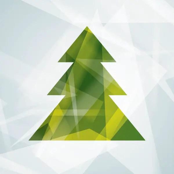 Modern Christmas Tree Free Vector