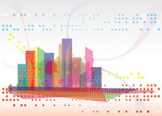 Modern Cityscape Free Vector
