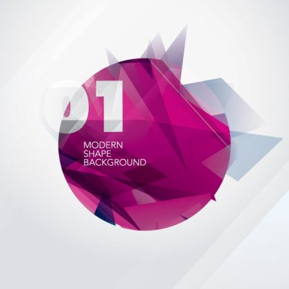 Modern Shape Background Free Vector