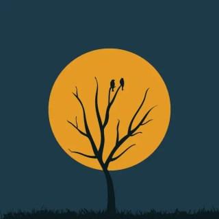 Moon Tree Free Vector