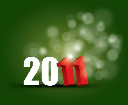 New Year 2011 Free Vector