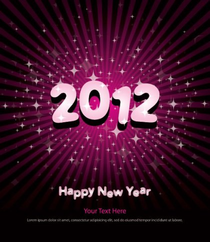 New Year Poster 2012 Free Vector