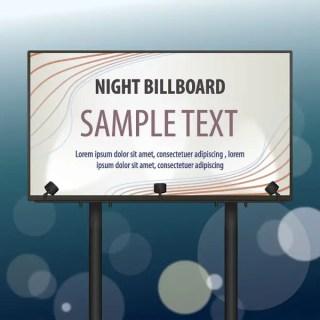 Night Billboard Free Vector