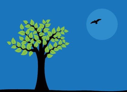 Night Tree Free Vector