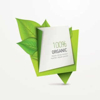 Organic Paper Banner Free Vector