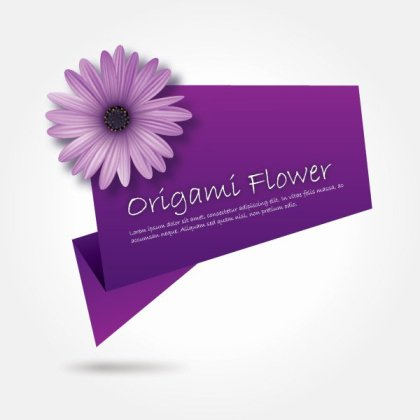 Origami Flower Free Vector