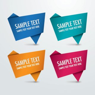 Origami Signs Free Vector