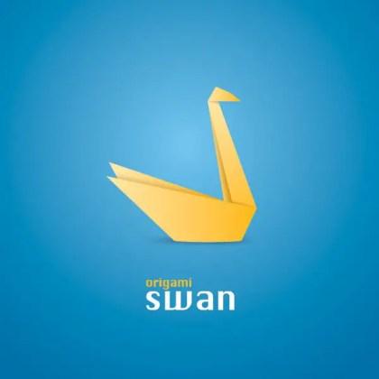 Origami Swan Free Vector