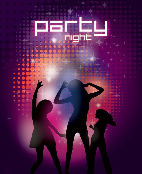 Party Night Free Vector