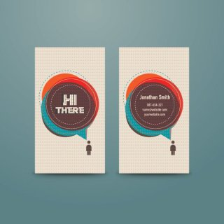Personal Business Card Free Vector