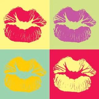 Pop Art Kiss Free Vector
