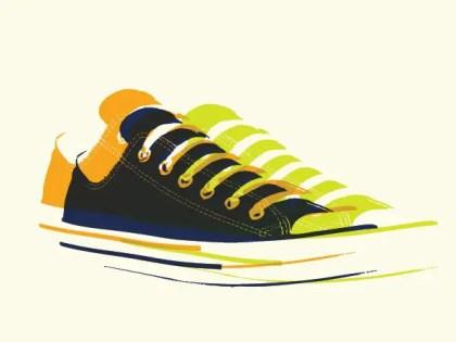 Pop Art Sneakers Free Vector