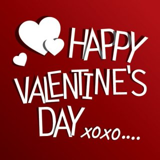 Red Valentine's Greeting Free Vector