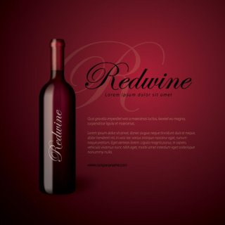 Redwine Bottle Free Vector