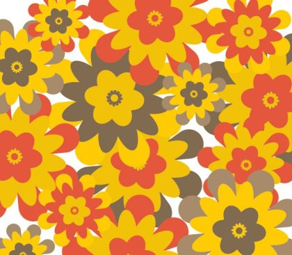 Retro flower background Free Vector