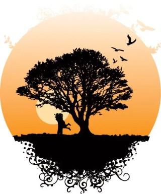 Romance Tree Free Vector