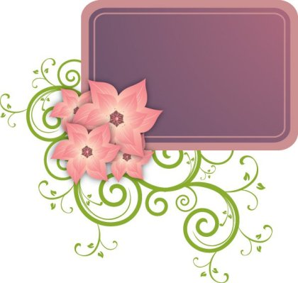 Romantic frame Free Vector
