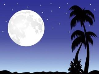 Romantic moon Free Vector