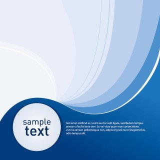 Sample Blue Background Free Vector