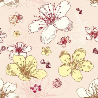 Seamless Flower Pattern Free Vector