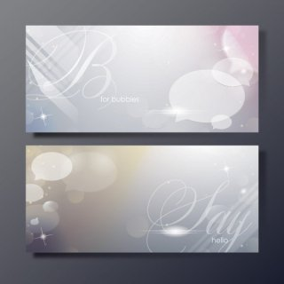 Shiny Bubble Banners Free Vector